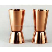 Metal shot glass with copper plating,2oz polished copper shot glass,60ml stainless steel copper