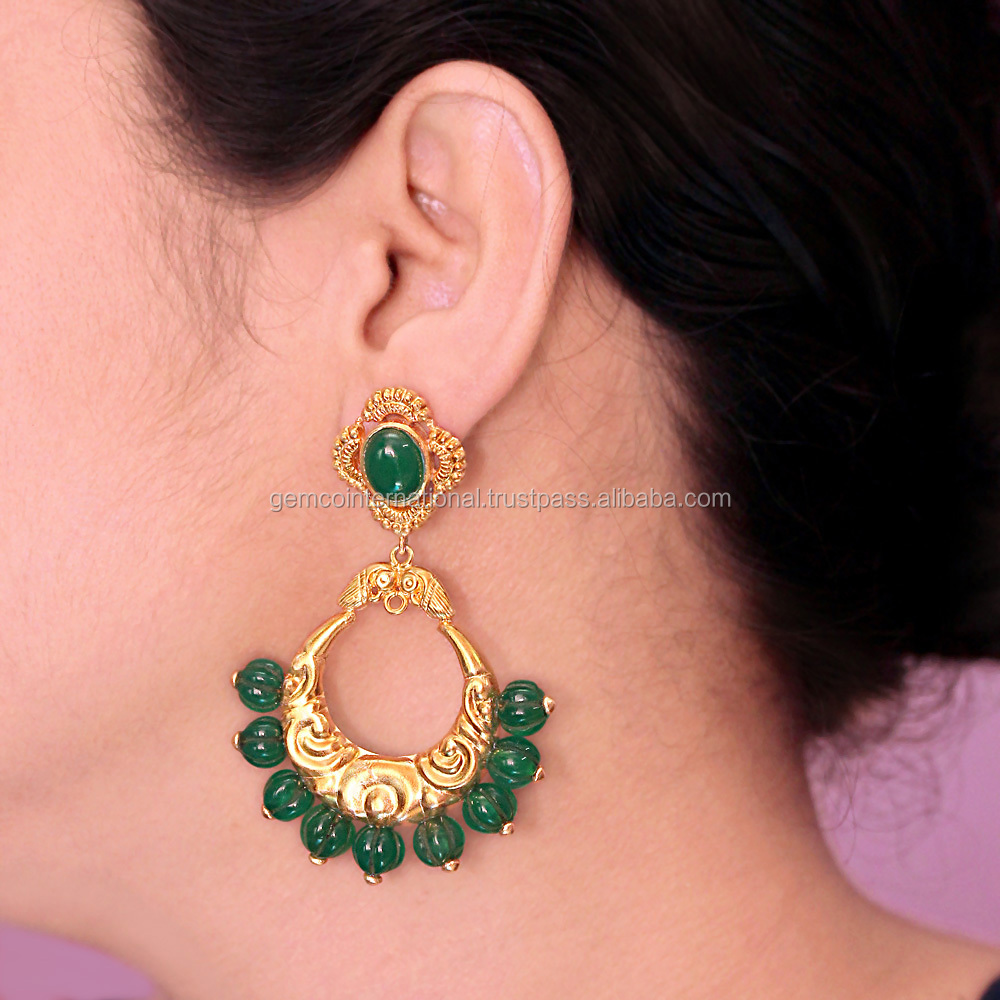 2017 Fashion Earring Beautiful Designs New Model Gemstone Earrings