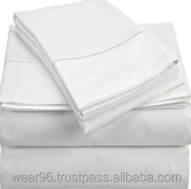 180 Thread Count 50/50 Polyester Cotton Hotel Hospital Sheets