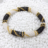 Nepal Glass Beaded Hand Crocheted Bracelets