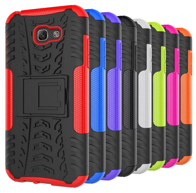 For A7 2017/a720 Dual Layer Hybrid hard Kickstand Armor Phone Cover