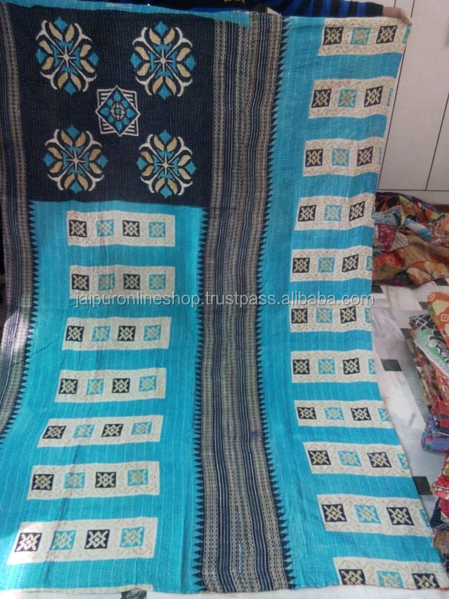 Modern Art Cotton Kantha Quilt