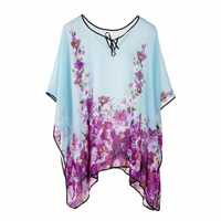 New Arrival Fashion Women Ladies Tops Tunic Beachwear Cover Up