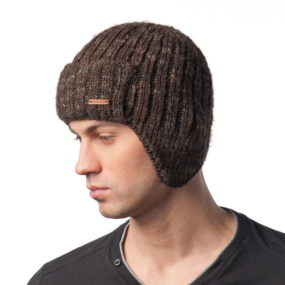 Marhatter - winter warm hats on the ear-flap (helmet) for men