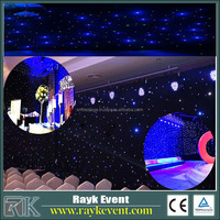 Starry sky lighting fiber optic led light up curtain rgb led ribbon christmas lights