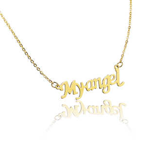 Hot Sale Personalised Letter My Angel Gold plated Pendant Necklace
