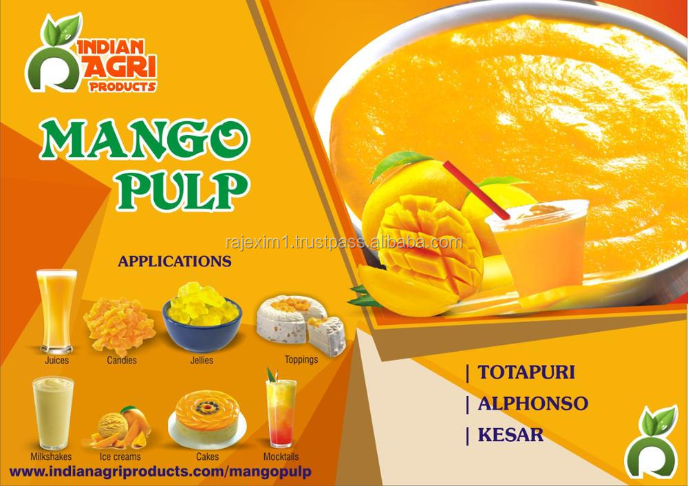 Tasty Indian Mango Pulp Exporters