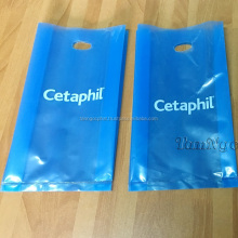 ldpe die cut handle plastic bag with customized logo