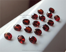Bulk Wholesale Natural Red Mozambique Garnet 6x8 mm OvalCut Loose Gemstone For Jewelry