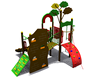 Kids Playground Equipment with Plastic Slider