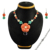 Lovely floral design multi gemstone jewelry set wholesale 925 sterling silver jewellery Indian silver sets