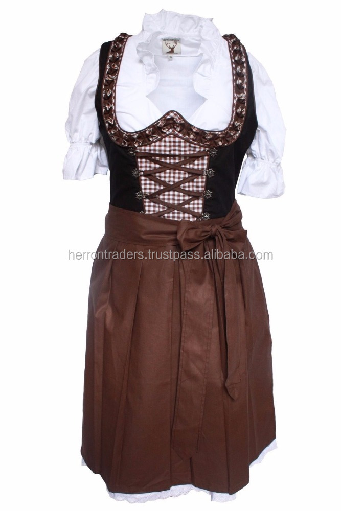 wholesale Ladies SEXY DIRNDL Dress, German Traditional Bavarian Dirndls with apron/ Bavarian Oktoberfest Clothing