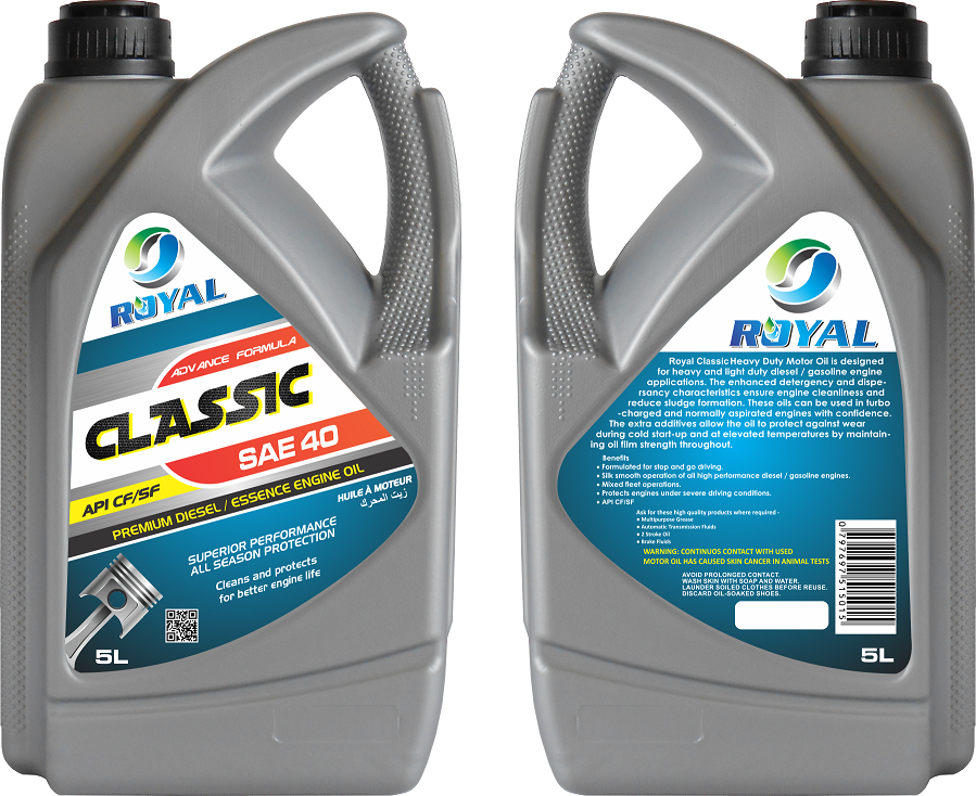 ROYAL CLASSIC OIL SAE 40 API CF/SF ( 10 TBN PRODUCT )