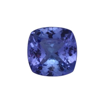 brilliant cushion cut natural AA tanzanite gemstone