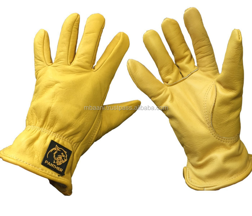 Premium Leather Drivers Gloves Fully Lined Tough Work Gloves