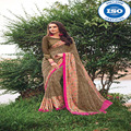 NP designer wear georgette saree with stitched blouse
