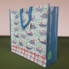 PP Woven Shopping Bag With Handle Blue Color