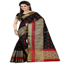 Indian Special Ocassion Looking Banarasi Work Designer Women Wear Cotton Sarees In Surat
