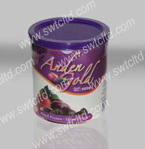 Premium Dry Prunes D'Agen in canister from Chilean Best Manufacture Factory