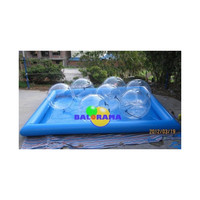 inflatable pool and 6 water ball, water walking ball pool