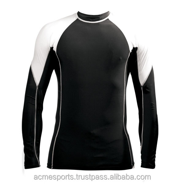rash guard shirts - Rash Guard Compression Shirt For Men Bike & Swim Shirt