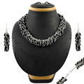 Scintillate black onyx gemstone jewelry set handmade indian 925 sterling silver wholesale jewellery silver sets