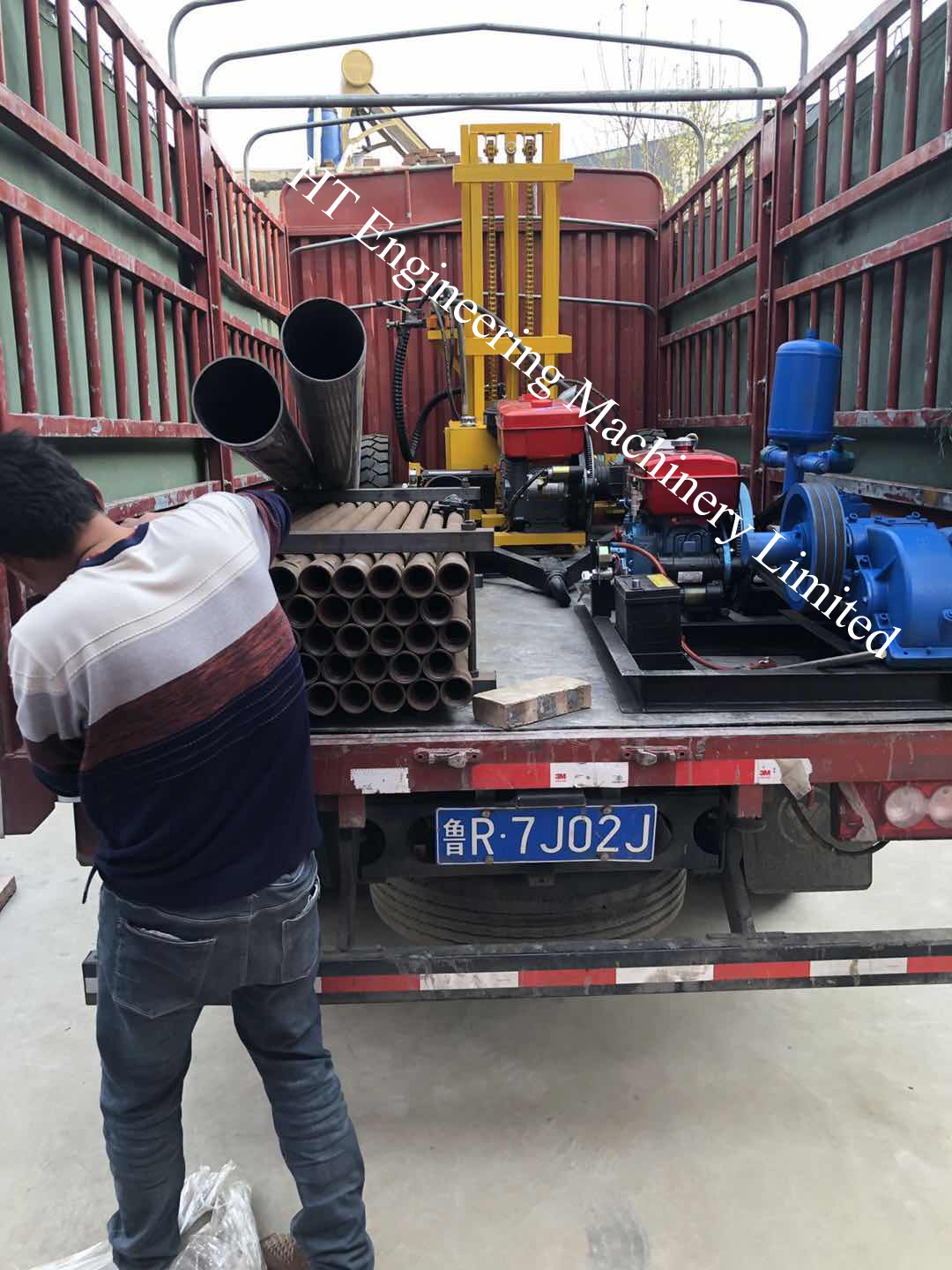 2019 Strong Power Low Price HT-DH200 Small Hydraulic Water Well Drilling Rig
