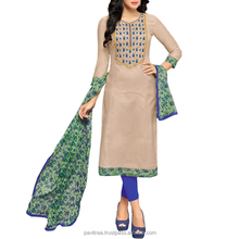 Indian Wear Chanderi Cotton Dress Material