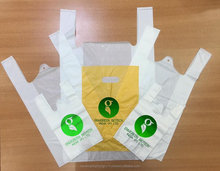 Recycle HDPE T-shirt plastic bag with cheap price made in Vietnam