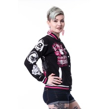 High Quality Ladies Varsity Jackets/Full Embroided Women Varsity Jackets/Girls Varsity Jackets with Patches