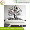 Vinyl Wall Decal Tree with Picture Frames Flowers & Butterflies Family Photo
