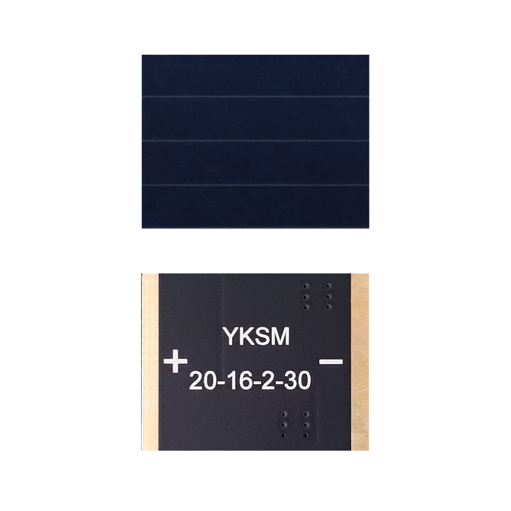 23.7% monocrystalline mini solar panel for BLE, IoT, beacon, wearable, home security, industrial appliances (12) YKSM 20-16-2-30