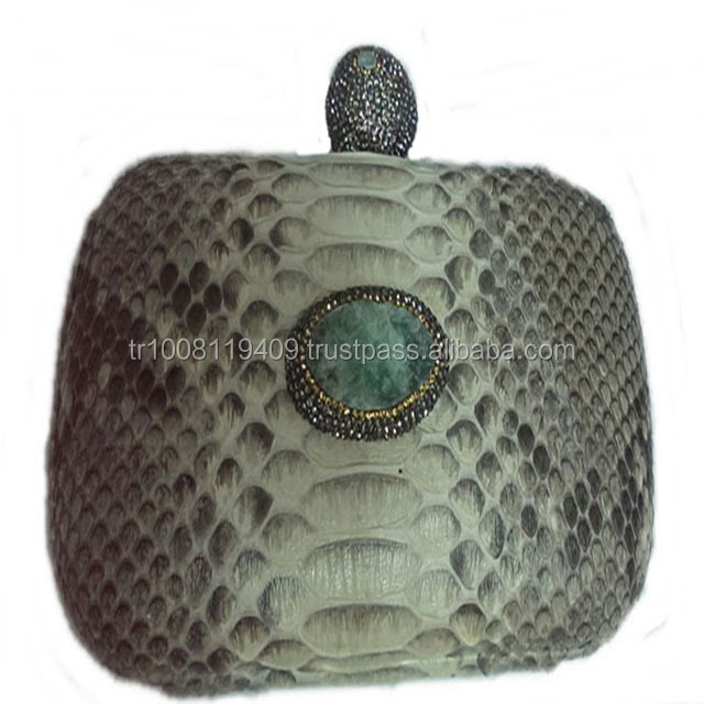 SNAKE LEATHER HAND BAG FOR WOMEN