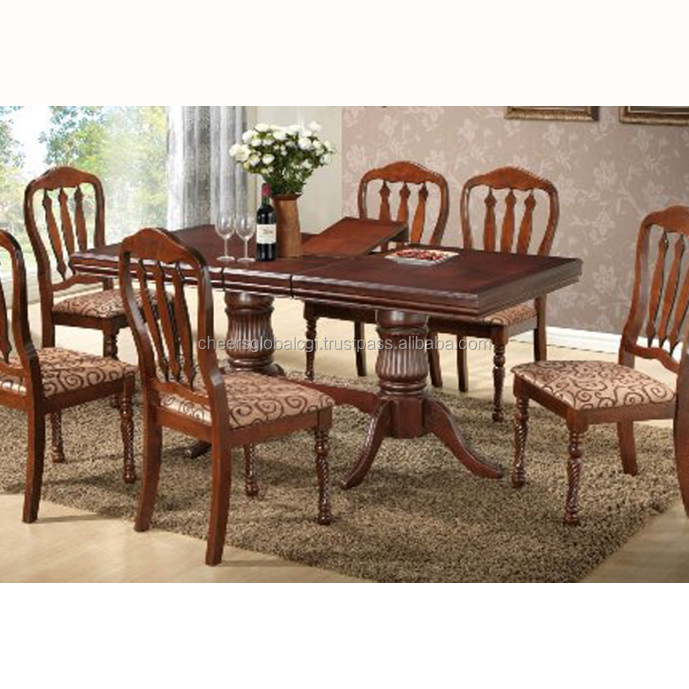 CGI 2002 Wooden Dining Set, Solid Wood Dining Room Set, Elegant Dining Set, Cheap Dining Set
