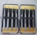 high quality eyelash extension tweezers, non-magnetic professional eyelash extension tweezers set