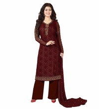 Latest 2017 Salwar Kameez Designs / Ladies Casual Party Wear Straight Cut Semi-Stitched Suits (salwar kameez Suits)