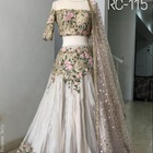 Pure Malai satin silk Lengha choli with Heavy embroidery all over work On lehenga