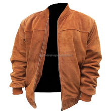 Real Leather Suede Bomber Jacket