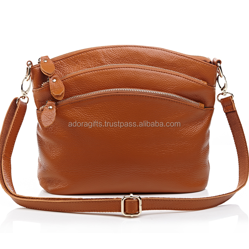 Genuine Leather unisex Shoulder Sling Bag
