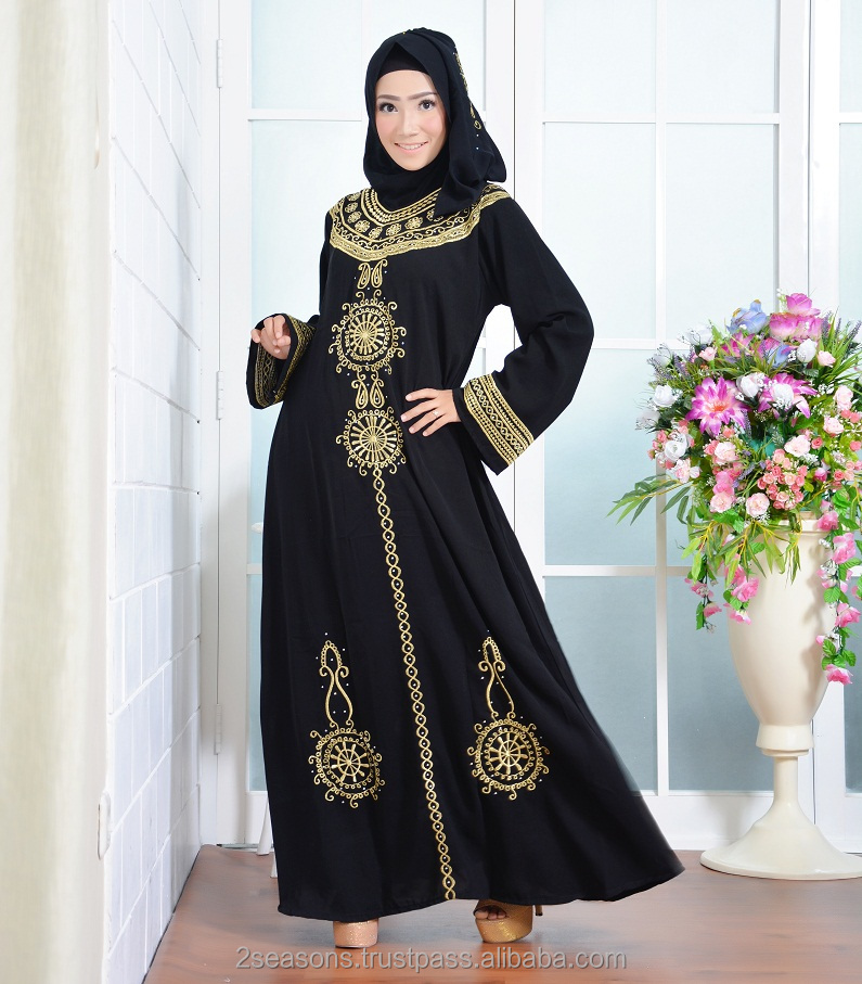 Muslim Arab Dress Persia Black Abaya 2017