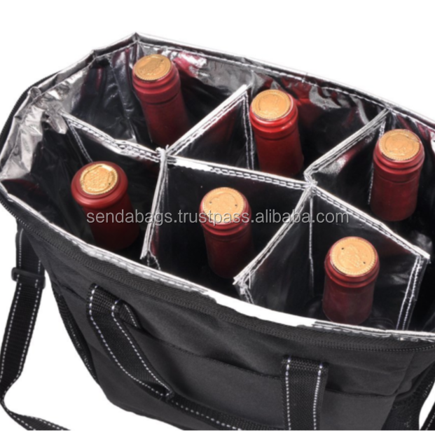 High quality insulated Six bottle Wine Carrier Made in Vietnam
