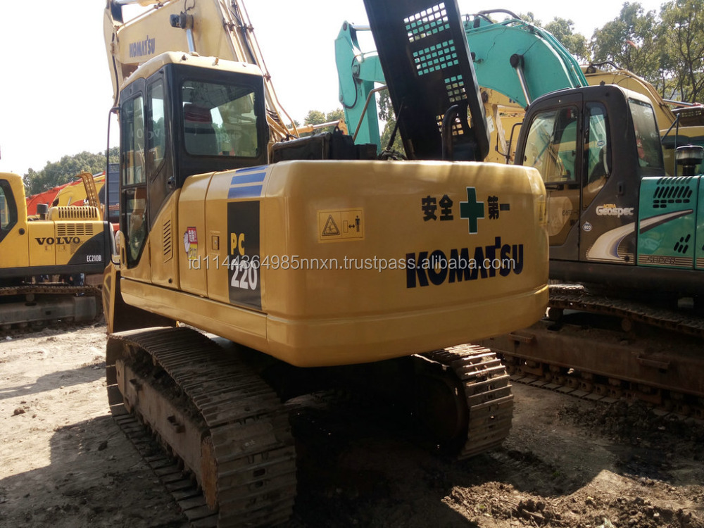 Good condition KOMATSU PC220-7 used excavator used kobelco sk60 excavator for sale