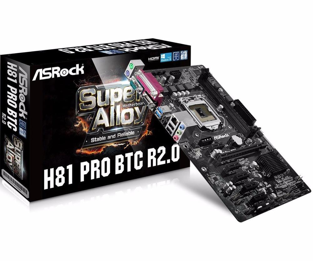 AUTHENTIC 100% Asrock H81 Pro BTC R2.0 Motherboard DDR3