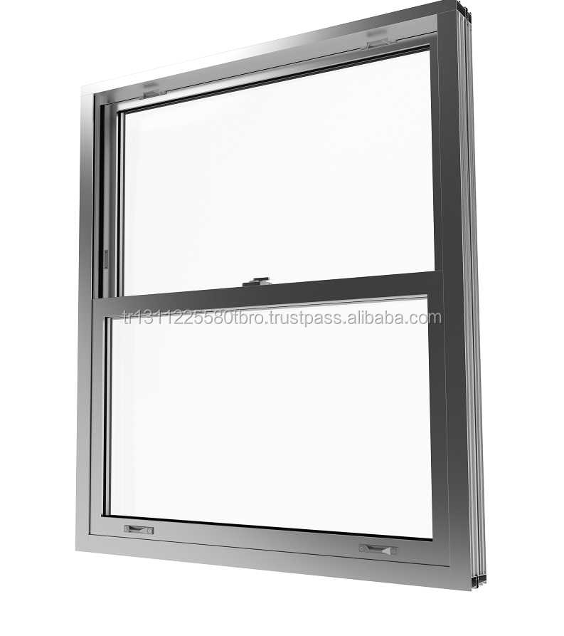 Aluminium Double Hung Vertical Sliding Guilltoine Window System