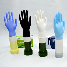 Cheap high quality non sterile Disposable powder free nitrile gloves blue color