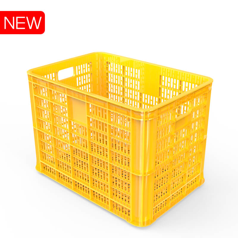Heavy duty ventilated plastic crate for Vegetables and Food Distribution No.835 Duy Tan Plastics export to Malaysia