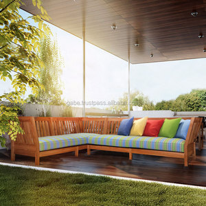 Sofa L shape set USA natural teak wood furniture, teak deep sofa production, teak wooden sofa outdoor
