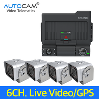 6Channel 3G/4G Mobile Digital Video Recorder Dash Cam Truck camera