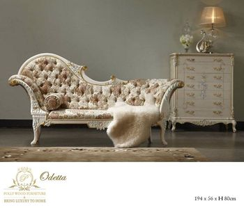 New Arrival Long Wooden Chairsofa set Desaign european furniture