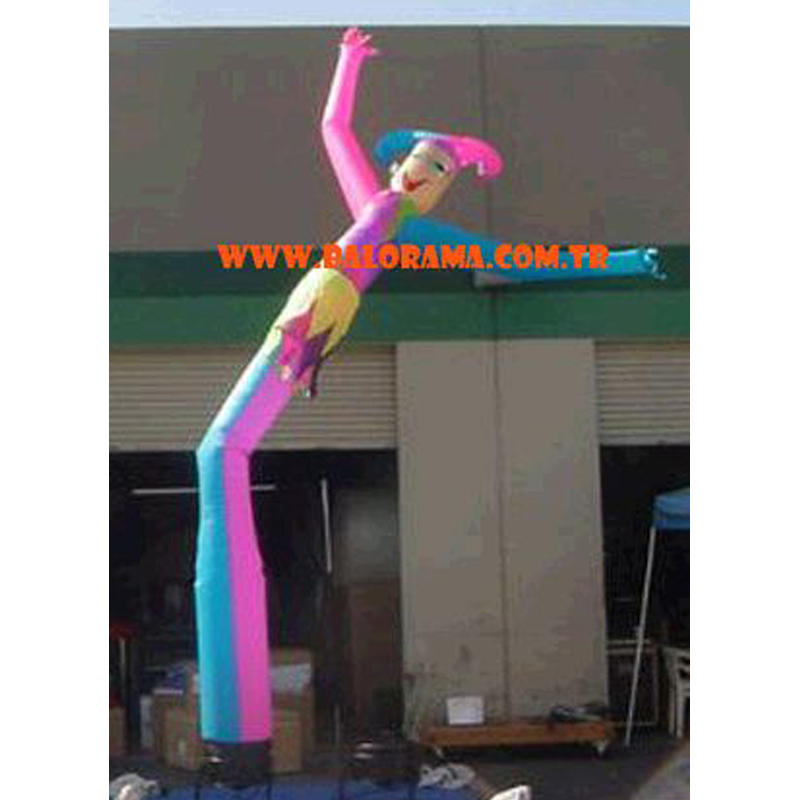 pink fly tube, clown sky dancer